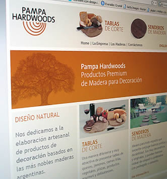 Sitio Web Pampa Hardwoods