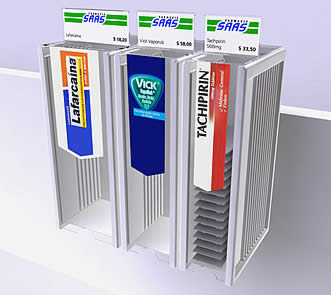 Farmacia SAAS - Dispenser para productos